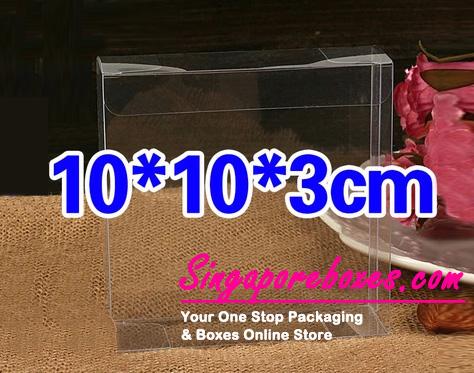 10*3*10cm Tuck Top Transparent Rectangular PVC Boxes