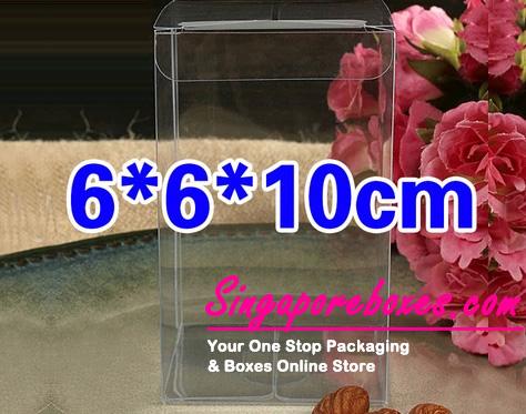 6*6*10cm Tuck Top Transparent Rectangular PVC Boxes