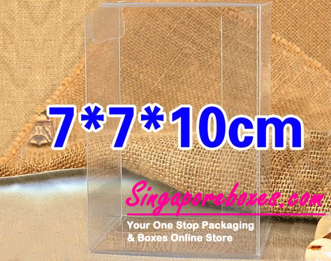 7*7*10cm Tuck Top Transparent Rectangular PVC Boxes