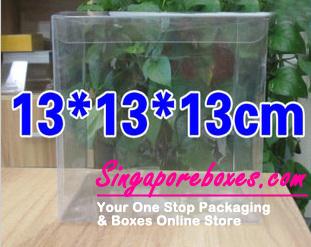 13*13*13cm Tuck Top Transparent Square PVC Boxes