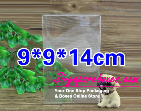 9*9*14cm Tuck Top Transparent Rectangular PVC Boxes