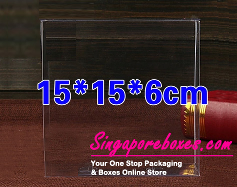 15*6*15cm Tuck Top Transparent Rectangular PVC Boxes