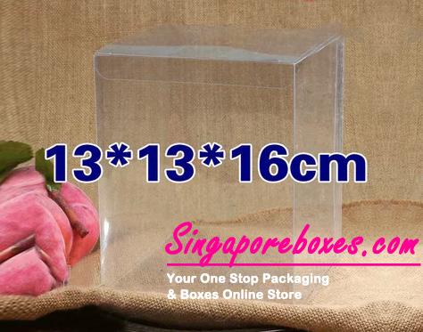 13*13*16cm Tuck Top Transparent Rectangular PVC Boxes