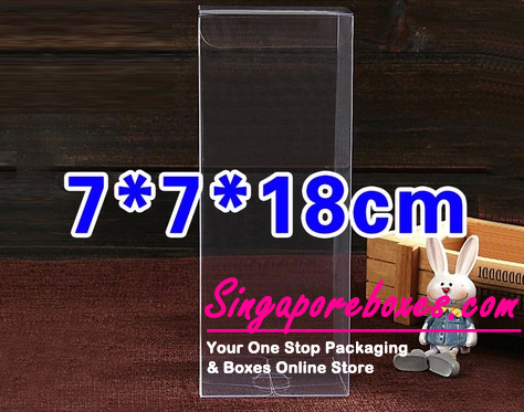 7*7*18cm Tuck Top Transparent Rectangular PVC Boxes