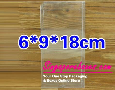 9*6*18cm Tuck Top Transparent Rectangular PVC Boxes