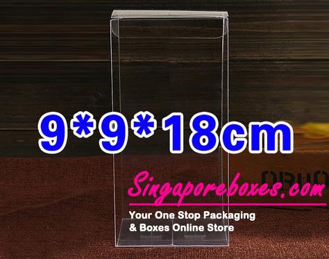 9*9*18cm Tuck Top Transparent Rectangular PVC Boxes
