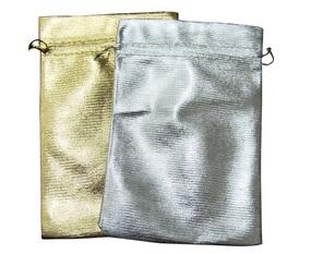 9*12cm Gold & Silver Bronzing Organza Bag