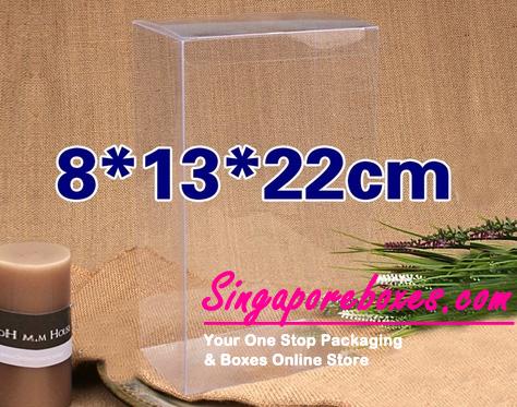 13*8*22cm Tuck Top Transparent Rectangular PVC Boxes