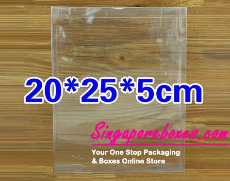 20*5*25cm Tuck Top Transparent Rectangular PVC Boxes