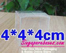 4*4*4cm Tuck Top Transparent Square PVC Boxes