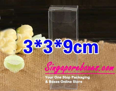3*3*9cm Tuck Top Transparent Rectangular PVC Boxes