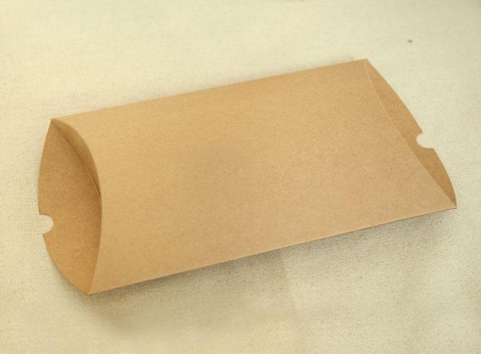 24*18.5*5.2cm Pillow Shape Kraft Paper Box