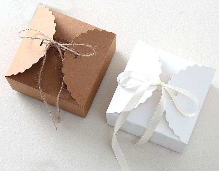 9*9cm Kraft Baking  Paper box