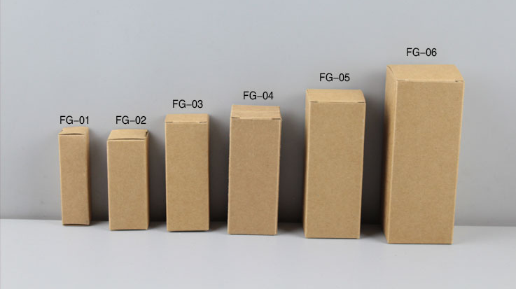 350g 2*2*7cm Rectanglar Kraft Paper Box (Mutiple Sizes, 3 Colors)