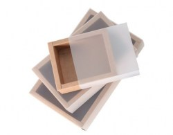 Standard Size Kraft Paper Box  with Transparent Cover(10 Sizes) Image 0