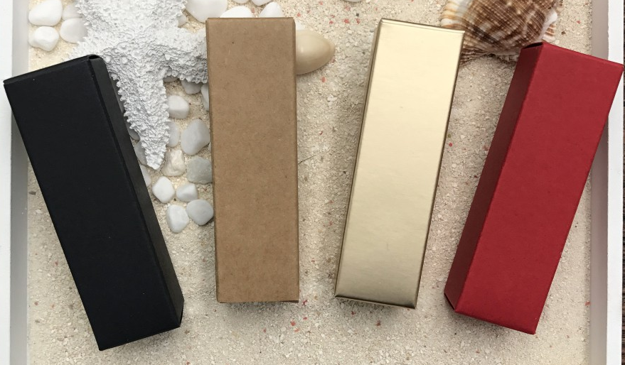 Classical 2.5*2.5*8.5cm Rectanglar  Paper Box(4 colors)
